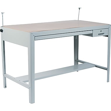Safco® 35 1/2in.H x 56 1/2in.W x 30 1/2in.D Precision Drafting Table Base, Gray