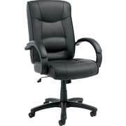 Alera® Strada Series Leather Seating Leather Management, Black, 47 1/4H x 21W x 20D