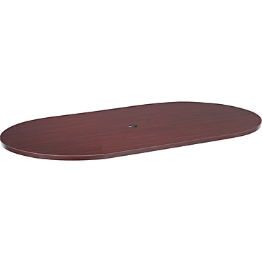 Alera™ Valencia Series 1 1/2in.H x 72in.W x 36in.D Racetrack Table Top, Mahogany