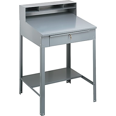 Tennsco® Steel Shop Desks Heavy Gauge Steel Desk Medium, Gray
