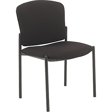 HON ® Pagoda ® Fan-Back Stacking Armless Chair, Black