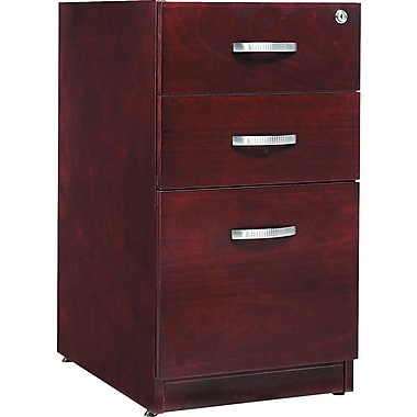 Alera™ Verona Veneer Pedestal File Cabinet With 1 Drawer, 28 1/2in.H x 15 1/4in.W, Mahogany