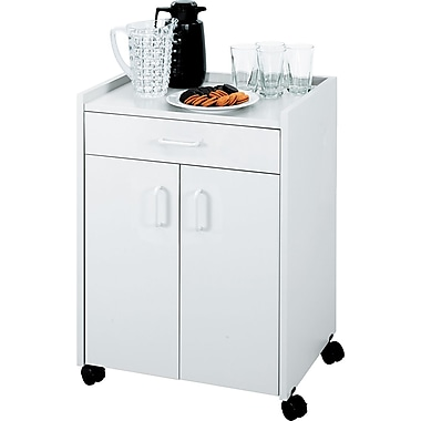 Safco ® Beverage Carts Wood Laminate, Gray