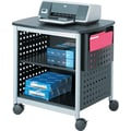 Safco ® Mobile Deskside/Underdesk Machine Stands, Black/Silver
