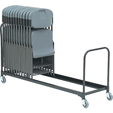 Iceberg ® 8' Folding Chair Cart, Black, 20 1/2