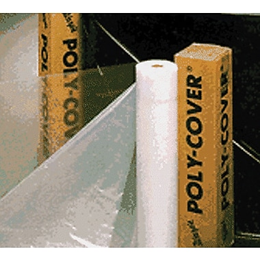POLY-COVER® Warp's® Brothers 100 Feet (L) Clear Poly-Cover Plastic Sheet, 10 Feet (W) x 6 mm (T)