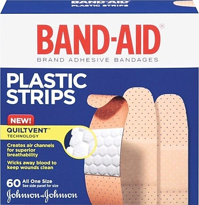 BAND AID PLASTIC 60 CT.