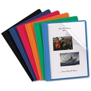 "Oxford Oxford Clear Front Report Covers, Assorted, 8 1/2"" x 11"", 25/Bx"