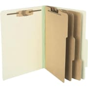 ACCO Pressboard Classification Folder with Permclip® Fasteners, 8 Parts, Leaf Green, Letter size, 8 1/2 x 11, 10/Box