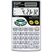 "Wallet Calculator, Extra-Large Display, 10 Digit Screen, Metric Conversion, Solar Power, 2-3/4""x4-4/5"""