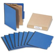 "Presstex ColorLife Classification Folder, 1/2"" Capacity, 6-Section, 3"" Expansion, Holds 8 1/2"" x 11"" Sheets, Dark Blue,10/Box"