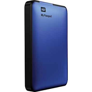 WD My Passport 500GB Portable USB 3.0 External Hard Drive (Blue)