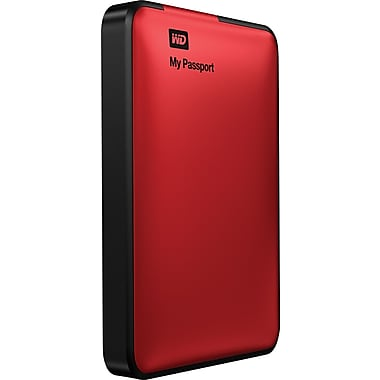 WD My Passport 500GB Portable USB 3.0 External Hard Drive (Red)