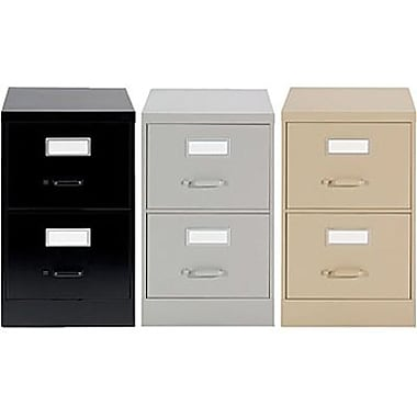 Staples® Vertical Legal File Cabinets, 2-Drawer