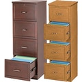 Staples® Vertical Wood Legal File Cabinets, 4-Drawer