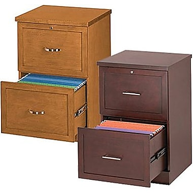 Staples® Vertical Wood Legal File Cabinets, 2-Drawer