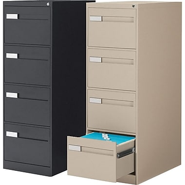 Global® 2800 Series Premium Vertical Legal File Cabinets, 4-Drawer
