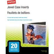 Staples Jewel Case Inserts, 20/Pack