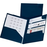 Oxford® Divide-It-Up® Poly 4-Pocket Folder, Navy