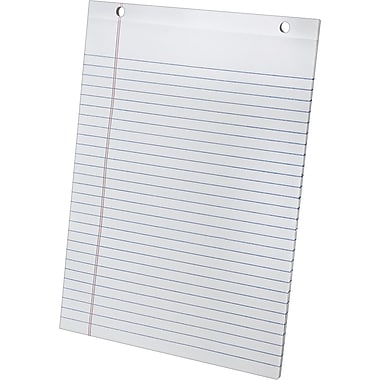 Ampad® SimpleSort Crossover Writing Pad Refill, Wide Ruled, White, 8-1/2in. x 11in.