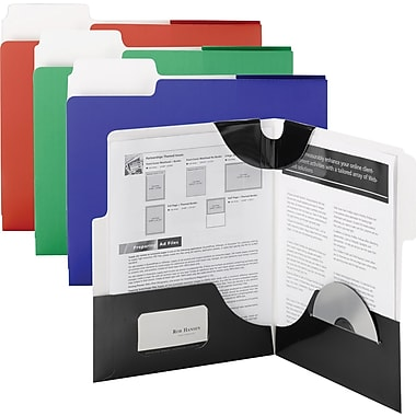 Smead® 879 SuperTab® Folder, Black