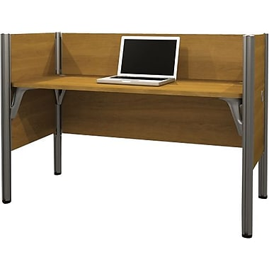 Bestar Pro-Biz Office System Simple Workstation, 3/4 Wall, Cappuccino Cherry