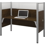 Bestar Pro-Biz Office System Simple Workstation, Full Wall, Chocolate