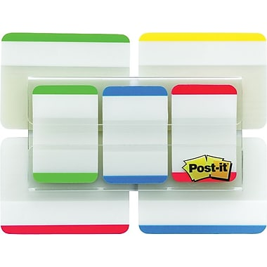 Post-it® 1in. & 2in. Durable Tabs, Assorted Colors, 114 Tabs/Pack
