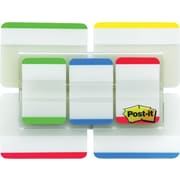 "Post-it® 1"" & 2"" Durable Tabs, Assorted Colors, 114 Tabs/Pack"
