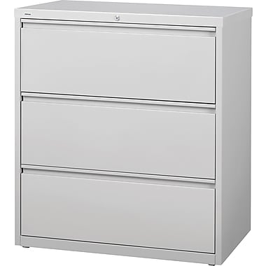 Staples® HL8000 Commercial 36in. 3-Drawer Lateral File Cabinet, Gray