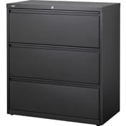 Staples HL8000 Commercial 3-Drawer Lateral File Cabinet, Black