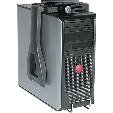 Kelly Computer Lockable CPU Holder, Black, 3 1/2in.(W) x 12 1/2in.(D)