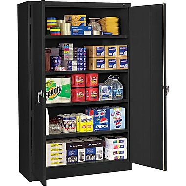 Tennsco Assembled Jumbo 18in.D Steel Storage Cabinet, Black
