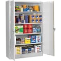Tennsco Assembled Jumbo 18in.D Steel Storage Cabinet, Light Gray