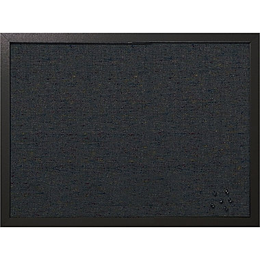 MasterVision  24in.(W) x 18in.(H) Designer Fabric Bulletin Board, Black Frame