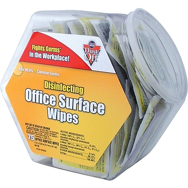Dust-Off ® Disinfecting Wipe - Office Share Pack, 6in.(W) x 5in.(L)