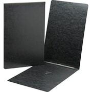 Top Opening Pressboard Report Cover, Prong Fastener, 11 x 17, Black