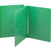 Smead Side Opening Pressboard Report Cover, Prong Fastener, Letter, , Green