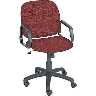Safco® Cava Urth® Collection High Back Recycled Polyester Fabric Swivel/Tilt Chair, Burgundy