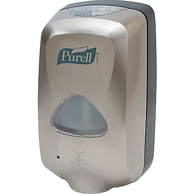 Purell  TFX™ Touch-Free Dispenser, Nickel, 1200 ml, 10 1/2in.(H) x 6in.(W) x 4in.(D)