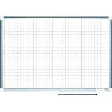 Master Vision 48in.(H) x 72in.(W) Grid Planning Board, Aluminium Frame, 71 Grid Columns