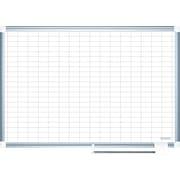 "Master Vision 48""(H) x 72""(W) Grid Planning Board, Aluminium Frame, 35 Grid Columns"