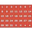 Master Vision Calendar Magnetic Tape, Red/White, Calendar Dates