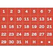 Master Vision Calendar Magnetic Tape, Red/White, Calendar Dates