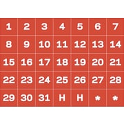 MasterVision® Calendar Magnetic Tape, Calendar Dates, Red/White