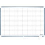 """MasterVision® 24""""H x 36""""W Grid Platinum Plus Dry Erase Board, Aluminium Frame"""