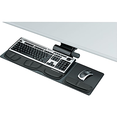 Fellowes ® Professional Series Compact Keyboard Tray, Black, 19in.(W) x 9 1/2in.(D)