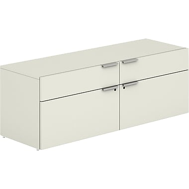 HON® Voi® Laminate Base Low Credenza, 21 1/2in.H x 60in.W x 20in.D, Silver Mesh