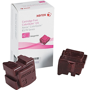 Xerox® 108R00927 Colour Qube Magenta Solid Ink Sticks, 2/Pack