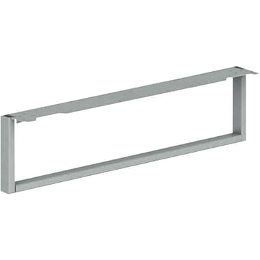 HON® Voi® Steel O-Leg Support For Low Credenza, 7in.H x 30in.D, Platinum Metallic